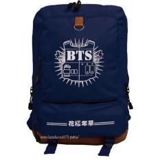 Backpack Tas Punggung Tas Ransel Ransel Sekolah Travel Bag Pria Wanita 3P New Bts Backpack Dark Blue Asli