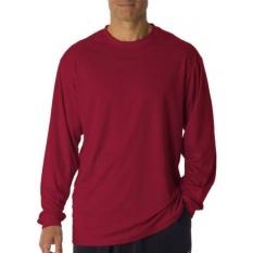 Badger Sportswear Dewasa B-Core Lengan Panjang TEE, Kardinal,-Intl