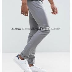 Spesifikasi Bae Weah Celana Chinos Pria Streeat Celana Premium Chinos Bae Weah Grey Murah