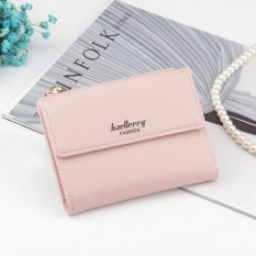 Baellerry Kenyamanan Lady Multi-fungsi Dompet Tombol Sederhana Multi Posisi Kartu Double Coupon Dompet-Lotus Root Starch- INTL