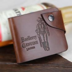 Baellerry Dompet Classic Cowboy Pria Bahan Kulit Casual S0239 Brown Murah