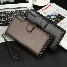 Baellerry Dompet Fashion Import PU leather premium long wallet with zipper - Hitam