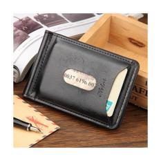Baellerry Dompet Kartu dengan Klip Uang Kertas - Black