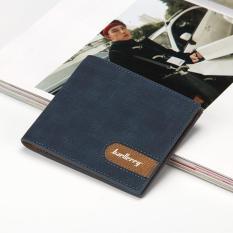 Spesifikasi Baellerry Fashion Men S Leather Wallet Short Section Business Wallet Multi Card Bit Wallet Dark Blue Intl Online