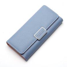 Jual Baellerry Fashion Women S Wallets Hand Bag Ladies Three Fold Wallets Blue Intl Baellerry
