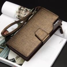 Spek Baellerry Dompet Pria Model Panjang Gaya Korea Ada Tempat Kartu Dan Koin Bahan Kulit Dan Tali Gantungan