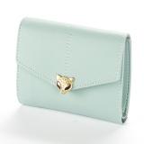 Penawaran Istimewa Baellerry Ladies Fashion Kecil Fox Kepala Tiga Fold Simple Fashion Buckle Wallet Biru Muda Terbaru