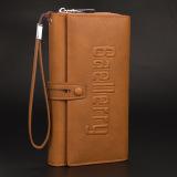 Review Pada Baellerry Laki Laki Kapasitas Besar Clutch Bag Kasual Clutch Coklat Muda