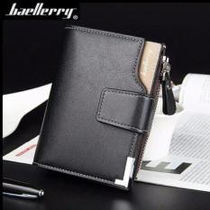Spesifikasi Baellerry Men Three Folded Vertical Wallet Dompet Pria Premium Import Ukuran Standard Hitam Merk Baellerry