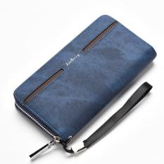 Harga Baellerry Men S Casual Pu Leather Handbag Wallet Long Wallet Dark Blue Online
