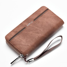 Harga Hemat Baellerry Men S Hand Bag Leather Wallet Pu Male Casual Long Wallet Brown Intl
