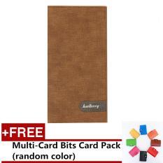 Harga Baellerry Pria Panjang Dompet Korea Versi Multi Card Bit Ultra Tipis Dompet Pria Fashion Brown Free Multi Kartu Bits Card Pack Buy 1 Get 1 Free Terbaru