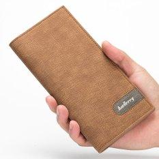 Jual Baellerry Pria Panjang Dompet Korea Versi Multi Card Bit Ultra Tipis Dompet Pria Fashion Brown Grosir