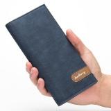 Beli Baellerry Pria Panjang Dompet Korea Versi Multi Card Bit Ultra Tipis Dompet Pria Fashion Biru Gelap Online Tiongkok