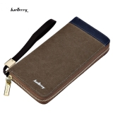 Toko Baellerry Patchwork Canvas Portable Clutch Wallet For Men Vertical Coffee Intl Lengkap Di Tiongkok