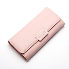 Spesifikasi Baellerry Women Dompet Cengkeraman Casing Tangan Casing Fashion Wanita Tiga Lipat Dompet Pink Intl Dan Harga
