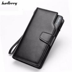 Baellerry G1603 Dompet Lipat Kulit Panjang Pria Bisnis Kartu Kredit Premium  Clutch Wallet Dengan Tali Tangan c3ae5053be