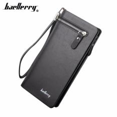 Beli Baellery Sw001 Dompet Lipat Kartu Kulit Panjang Pria Bisnis Premium Clutch Wallet Dengan Tali Tangan Fashion Cicilan