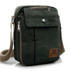 Baepack Tas Pria Men Vintage Canvas Multifunction Travel Satchel Messenger Shoulder Bag  1507-7ZV