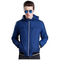 Harga Bafash New Men Casual Jacket Zipper Pocket Detachable Blue Baru
