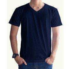 Harga Bafash T Shirt Polos V Neck Navy Blue Termahal
