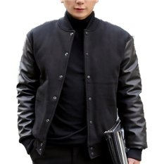 Jual Bafash Varsity Casual Leather Hitam Bafash Grosir