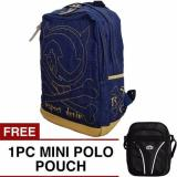 Bag Stuff Denim Skull Backpack Free Mini Poloclub Pouch Selempang Original