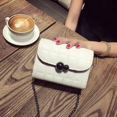 Tas Wanita 17 Musim Gugur Baru Gaya Han Ban Chao 100 Ambil Ling Ruang Rantai Kecil Joss-stick Embusan Angin Mini Daftar Bahu Ku Kecil Square Wrap (Grace White) -Intl