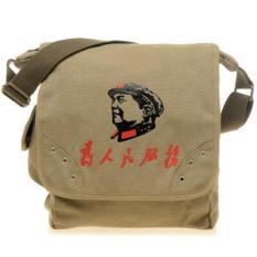 Bagi Orang-orang Untuk Melayani Ketua Mao Tas Retro Bahu Tas Tas Kanvas (Diaoyu Islands)