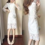 Gaun Wanita Aneka Warna Renda Membentuk Tubuh Elegan Putih Baju Wanita Dress Wanita Gaun Wanita Tiongkok Diskon