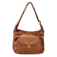 Toko Bagtitude Cicilia Sling Bag Light Brown Terlengkap Indonesia