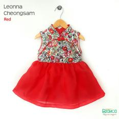 baju anak dress imlek choengsam red