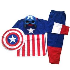 Baju Anak Kostum Topeng Superhero Kapten Amerika