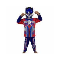 Harga Baju Anak Kostum Topeng Superhero Transformers Optimus Prime Yang Murah
