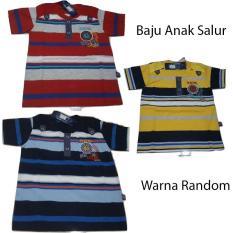 Baju Anak Laki-Laki Model Polo Setelan Kerah Salur Bintang - Corak Random ( untuk anak dari 9 bulan sampai 2,5 tahun )