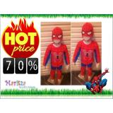 Spesifikasi Baju Anak Stelan Kostum Spiderman Lengkap