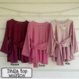 Baju Atasan Blouse Tunik Wanita Baju Muslim Blus Muslim Dhilla Top Tunik Diskon 30