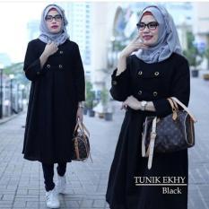 Spesifikasi Baju Atasan Blouse Wanita Baju Muslim Blus Muslim Ekhy Tunik Bm49 Warna Black Lengkap