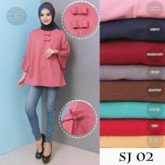 Beli Baju Atasan Muslim Wanita Blouse Jumbo Baju Tunik Baju Muslim Sj02