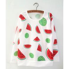 Baju atasan sweater lengan panjang murah SEMANGKA lucu