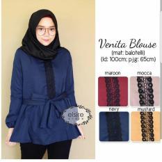 Baju Atasan Wanita Baju Murah Muslim Blouse Tunik Hijab Kode MC65014