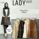 Promo Baju Atasan Wanita Baju Muslim Blus Muslim Tunic Cardy Outer Rompi Lad