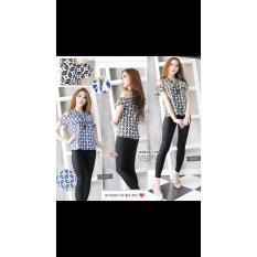 Baju Atasan Wanita - Blouse Batik Modern - Model Sabrina  - Wp3lte