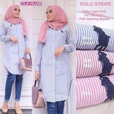 Spesifikasi Baju Atasan Wanita Polo Stripe Online