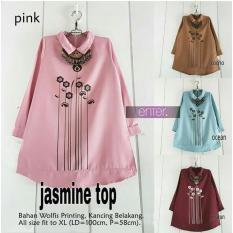 Spesifikasi Baju Atasan Wanita Tunik Baju Muslim Blus Muslim Jasmine Top Fashion Wanita Terlaris Lengkap Dengan Harga