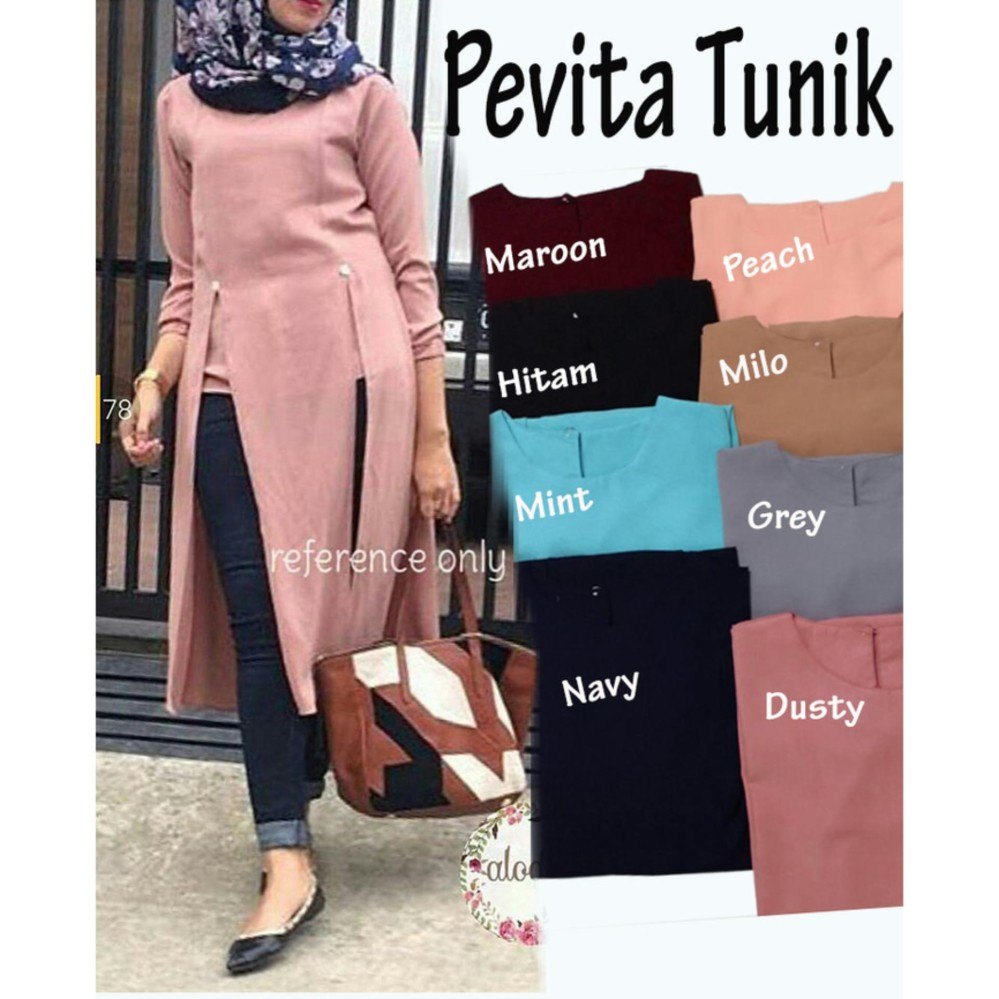 Gsd Setelan Baju Muslim Polos Wanita Set Celana F 101 Salem Update Kekinian Dress Sauqina M Sw Rayon Karet Di Bagian Lengan Atasan Tunik Blus Pevita