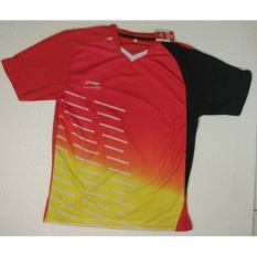 Baju Badminton Lining Yellow-Red