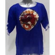 Baju Barong Lukis Bali - (Biru) Baju Santai