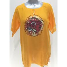 Baju Barong Lukis Bali - (Orange) Baju Santai