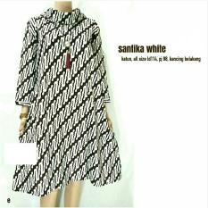 Women's Batik Clothes White Santika Tunic Dress